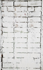 white brick wall as background