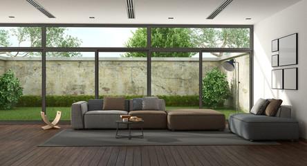 Large minimalist living room