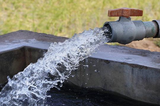 Water Pumping set in Farm Field