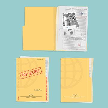Secret Folder With Documents
