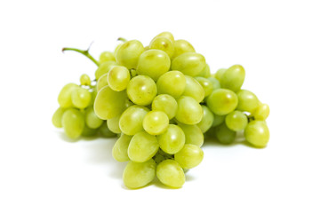 White bunch of grape on white background