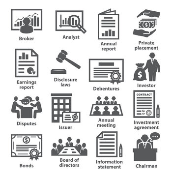 Business management icons Pack 37