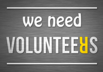 we need volunteers - silverboard concept