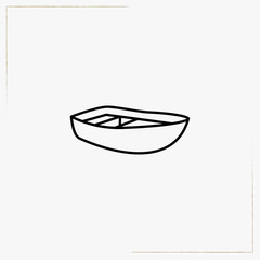 boat line icon