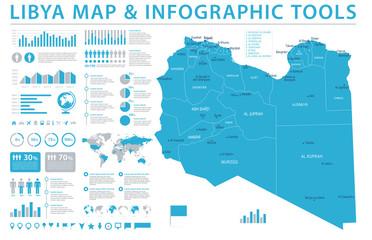 Libya Map - Info Graphic Vector Illustration