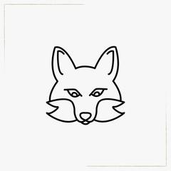 fox line icon