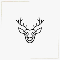 deer line icon