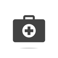 First aid kit icon vector isolated