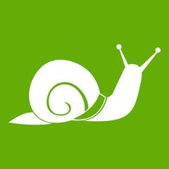 Snail icon green