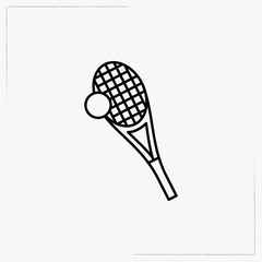 tennis racquet line icon