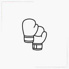boxing gloves line icon