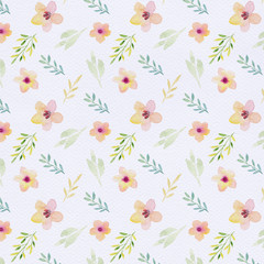 Watercolor floral pattern. Floral background. Gentle colors. Female pattern. Handmade.