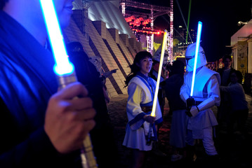 Cosplayers take part in a parade to celebrate the Year of the Dog in Hong Kong