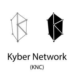 Kyber Network black silhouette