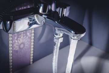 opened water tap