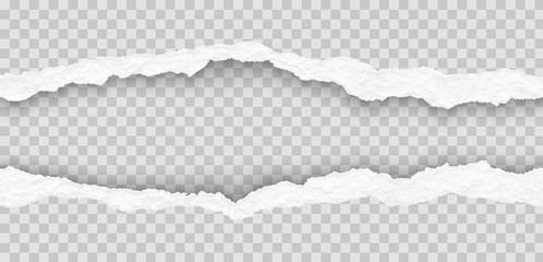 seamless torn paper edges, vector illustration