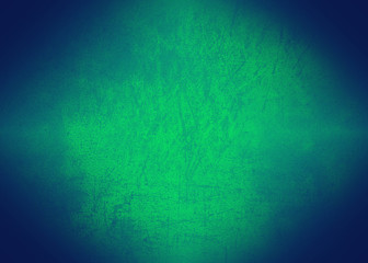 Gradient green and blue background dark colored vignetted texture with the effect of old age