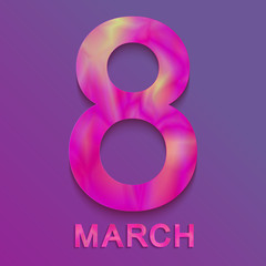 8 of March. Spring gender holiday. International women's day. Vector illustration