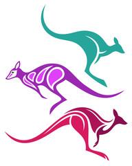 Stylized Animals - Kangaroos