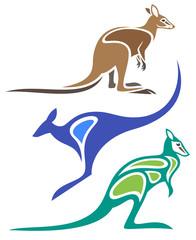 Stylized Animals - Wallabies
