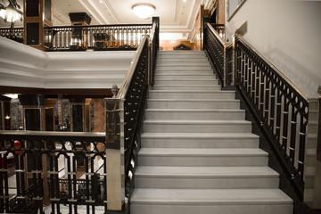 Foto op Plexiglas Trappen White elegant stairs
