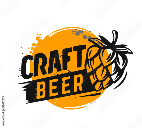 Craft Beer Poster Stock Image And Royalty Free Vector Files On