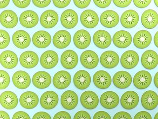 Colorful kiwi food background