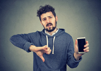 Man dissatisfied with quality of gadget