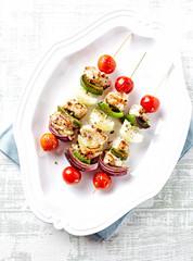 Vegetable and Bacon Shashlik