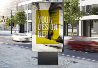 Outdoor Kiosk Advertisement Mockup 7