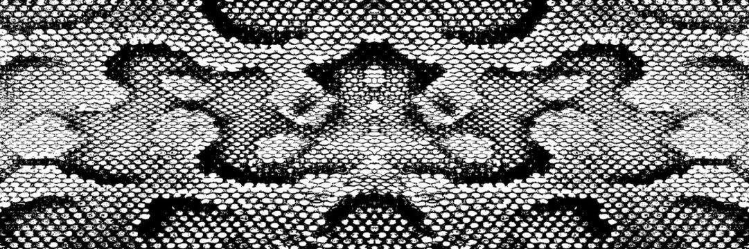 Print skin snake texture pattern boa black white