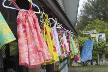 Rarotonga Cook Islands. Fabrics store