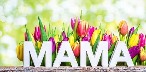 mama Muttertag karte tulpen