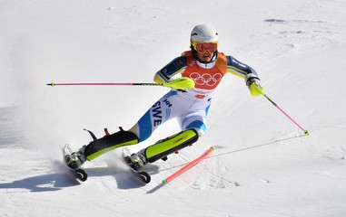 Olympics: Alpine Skiing-Ladies Slalom