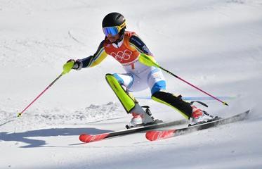Olympics: Alpine Skiing-Ladies Slalom
