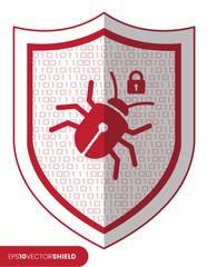 Shield Icon - Malware Bug