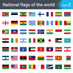 Flags of the world. Vector illustration of a stylized flag isolated on white