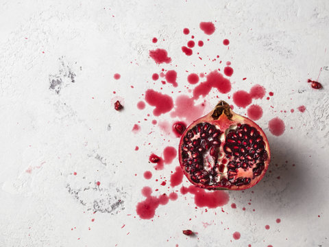 Pomegranate splatter