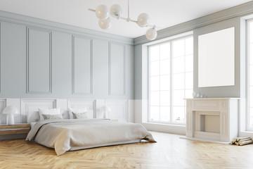 Stylish master bedroom corner, white