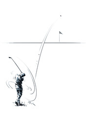 the game of Golf, punch