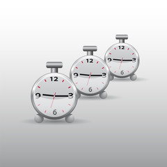 The alarm clock icon on a white background. Vector illustration.