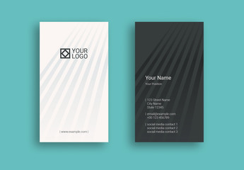 Striped Business Card Layout