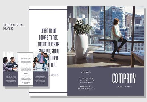 DL Size Tri-Fold Business Brochure Layout 1