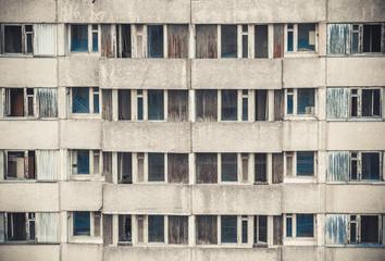 Windows of Pripyat. Chernobyl alienation zone.