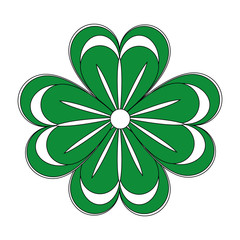 Shamrock clover symbol icon vector illustration graphic design
