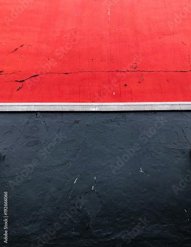 Schön Schwarz Und Rot Gestrichene Wand