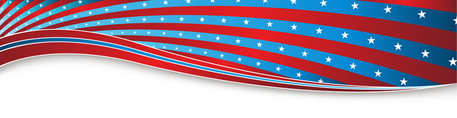 Indepedence Day Fourth of July USA Banner