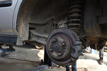 Car Wheel Repair At the garage