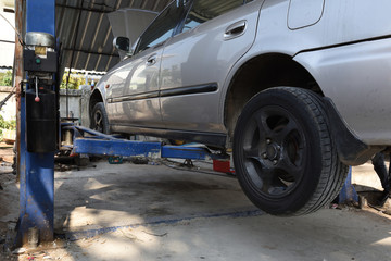 Car Wheel Repair At the garage