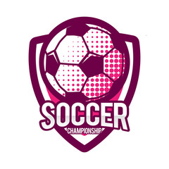 Soccer Championship Emblem Logo